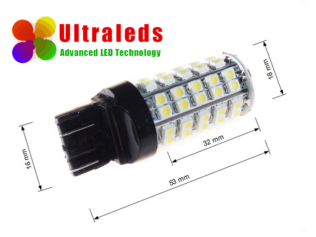 T20 W21W 7440 żarówka diody 68 LED SMD BIAŁA